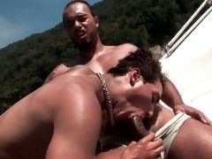 Amazingly tanned twinks Alan And Matheus fucking their hot asses on a boat