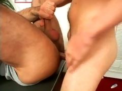 Gorgeous twink Daniel screwing a horny hunk`s mouth in the office
