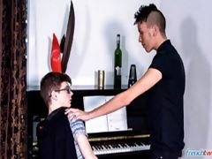 French Twinks - The Piano Lesson - Young gay boys Abel Lacourt and Kevin Ventura